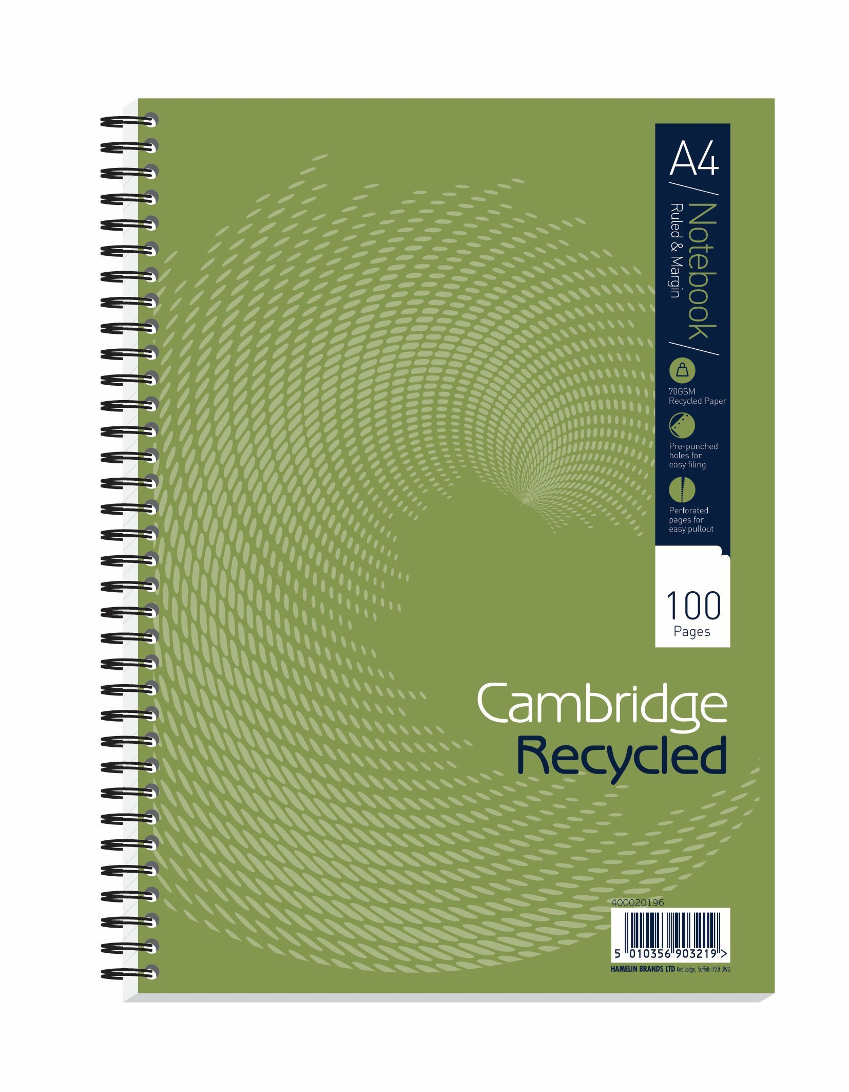 Great Cambridge Recycled A4 Wirebound Notebook Pack Of 5 400020196