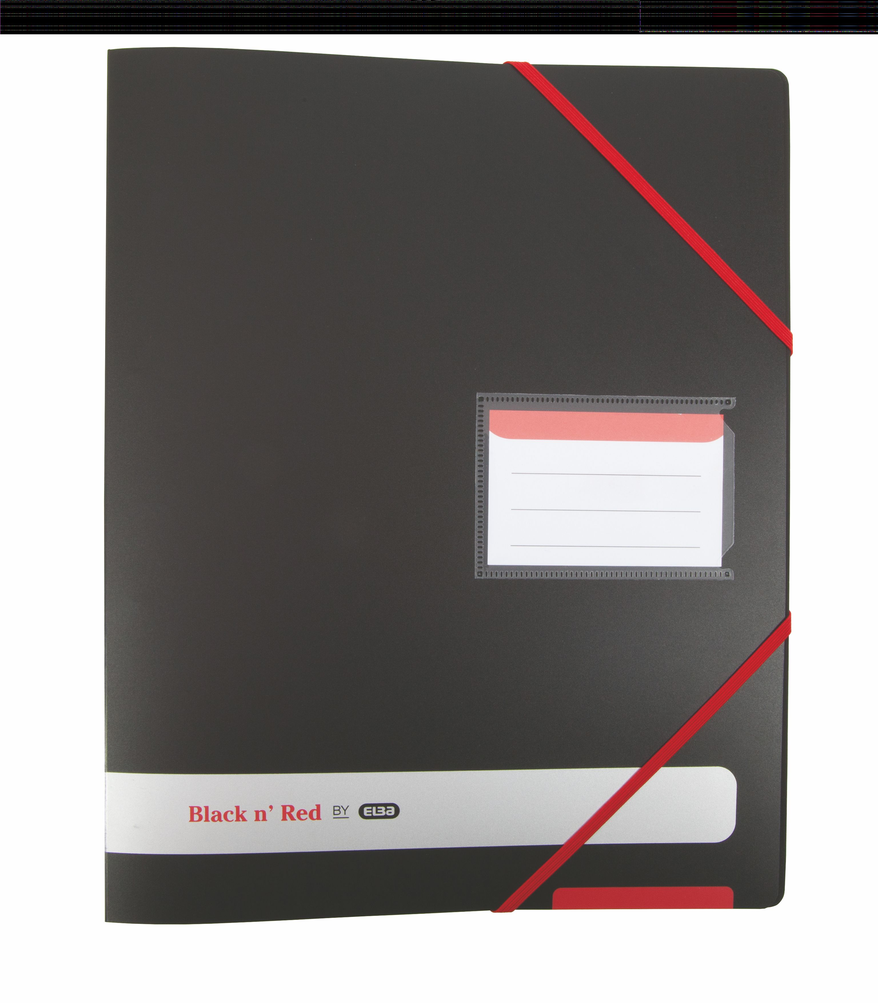 Black N Red Ring Binder Size 16mm Capacity 4 O Rings A4 Ref 400078863