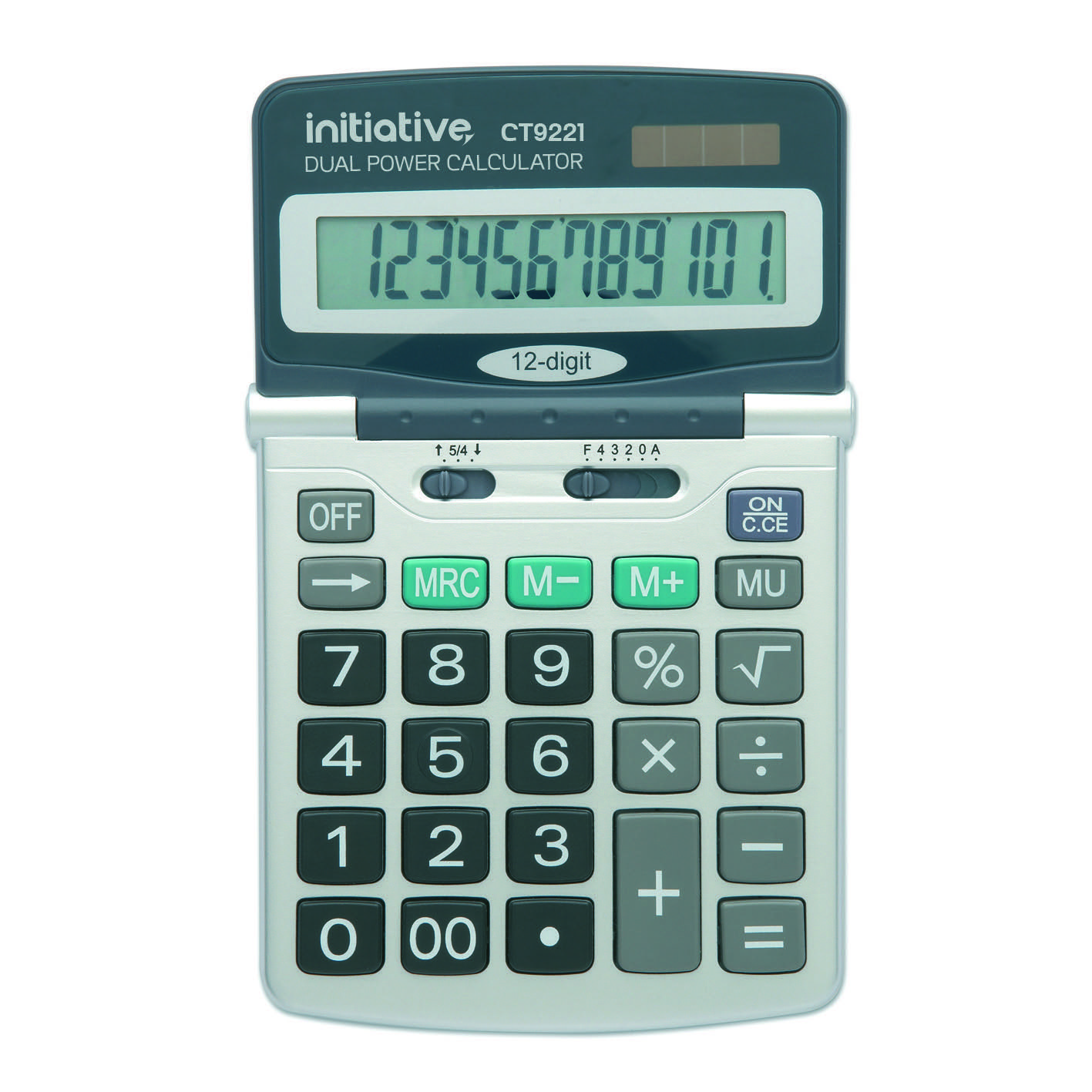Initiative 12 Digit Desktop Solar Ed Calculator