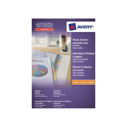 Avery A4 Extra-Wide 5 Part Index Maker Divider -KPS Office Supplies