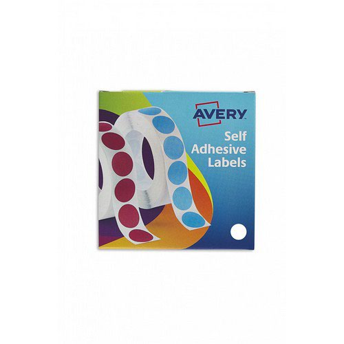 avery small pack white labels in dispensers 2000 labels size
