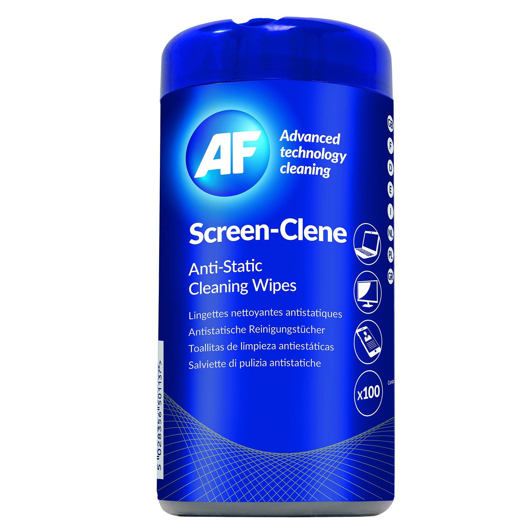 AF Screen-Clene Wipes Tub (100) SCR100T - One Stop Office Supplies