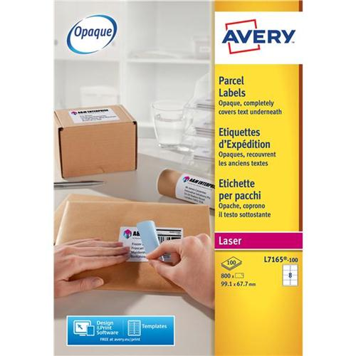 Avery Addressing Labels Laser Jam-free 8 per Sheet 99 1x67 7mm White