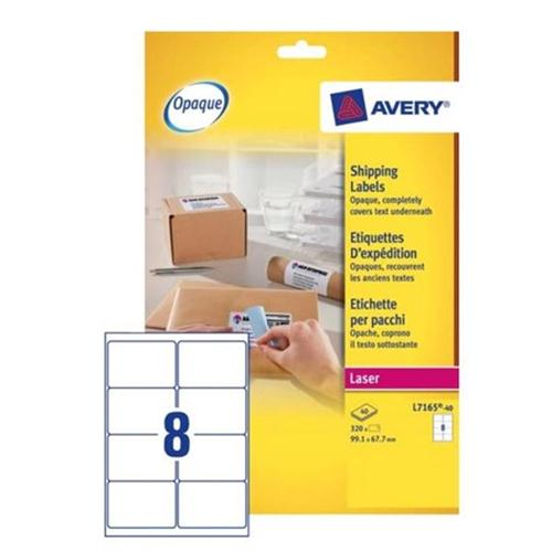 avery addressing labels laser jam free 8 per sheet 99 1x67 7mm white