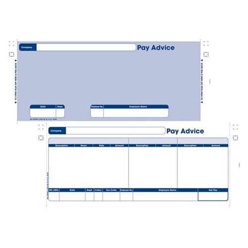 Exceptional Sage Compatible Security Pay Advice Slip With File Copy 3 Part W241xH102mm  Ref SE33 [Pack 1000]