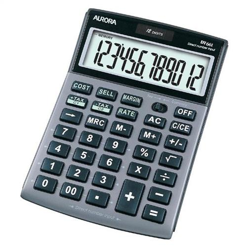 Aurora Dt661 Semi Desk Calculator With Vat