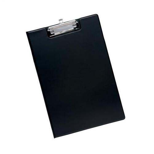 clipboard office paper holder clip. 5 Star Office Fold-over Clipboard With Front Pocket Foolscap Black Paper Holder Clip