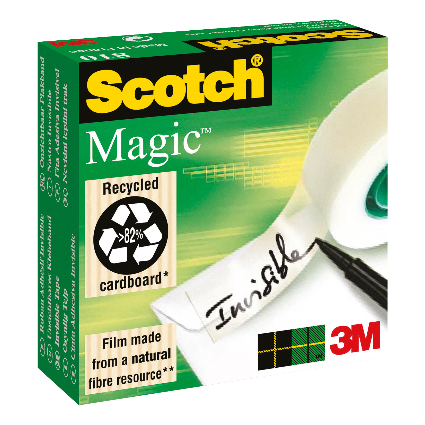 Scotch Magic Tape 12mmx66m Matt Ref 8101266 Pack 2