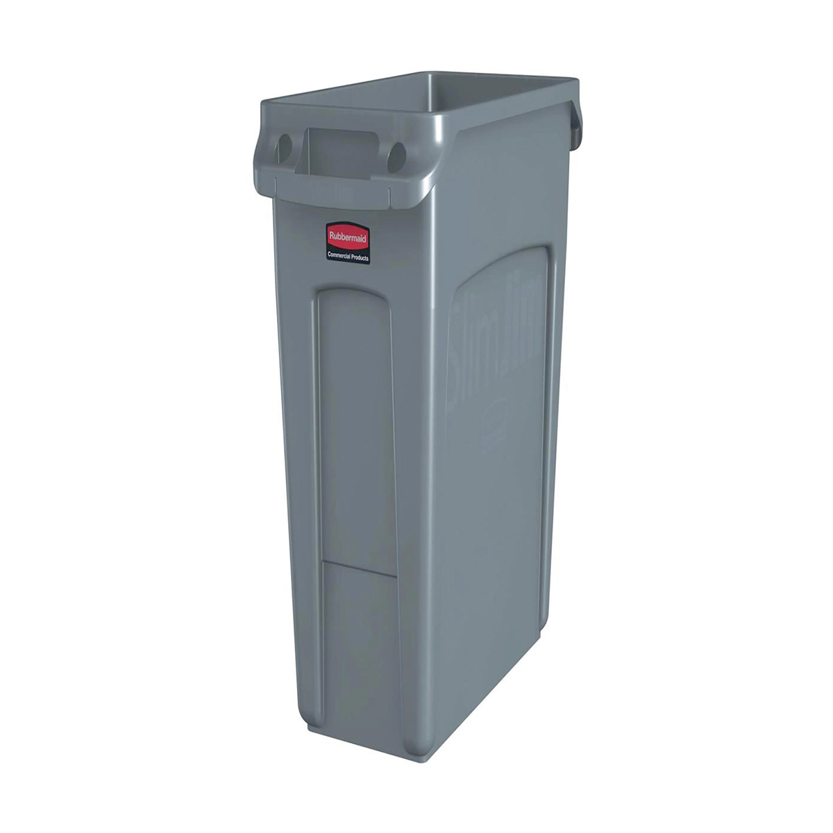 Rubbermaid Slim Jim Recycling Container Bin 60 Litre Capacity 558x279x635mm Grey Ref 1971258