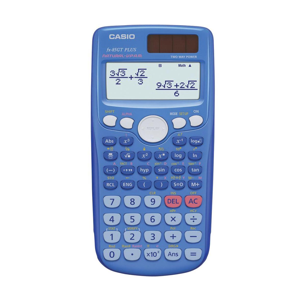 Casio Scientific Calculator Natural Display 260 Functions 80x13 ...