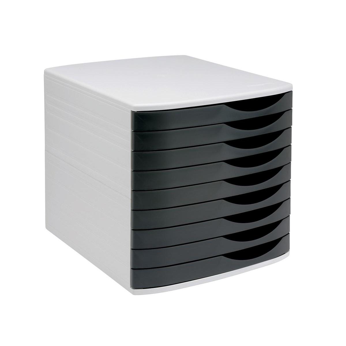 5 Star Elite Desktop Drawer Set 9 Drawers A4 And Foolscap Grey Black