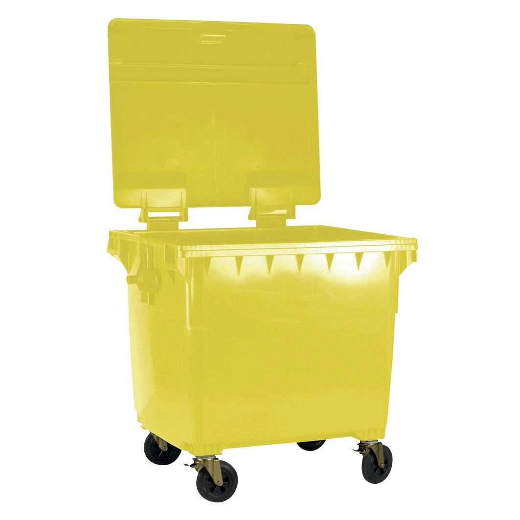 Four Wheeled Bin UV Stabilised Polyethylene 1100 Litres 67kg