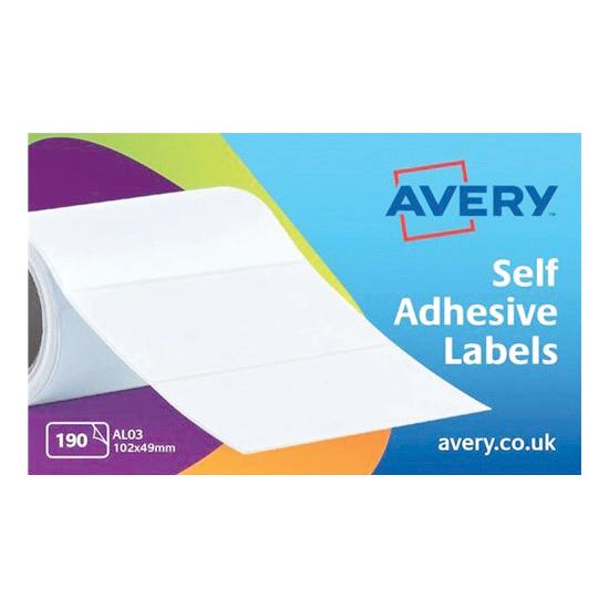 Avery Address Labels Typewriter Roll 102x49mm White Ref AL03