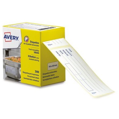 avery food traceability labels roll removable adhesive ref etihaccp