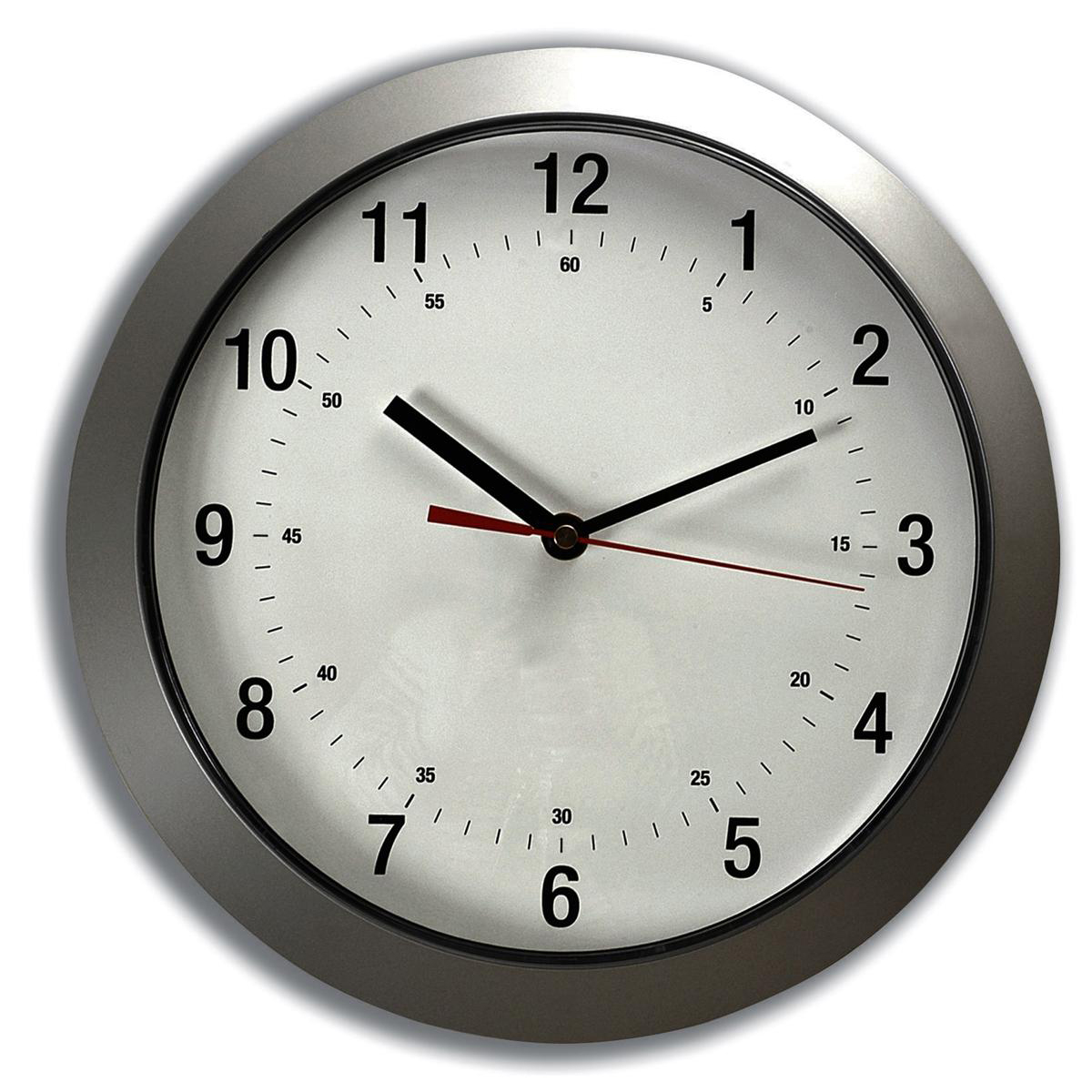 5 Star Facilities Wall Clock With Coloured Case Diameter 300mm