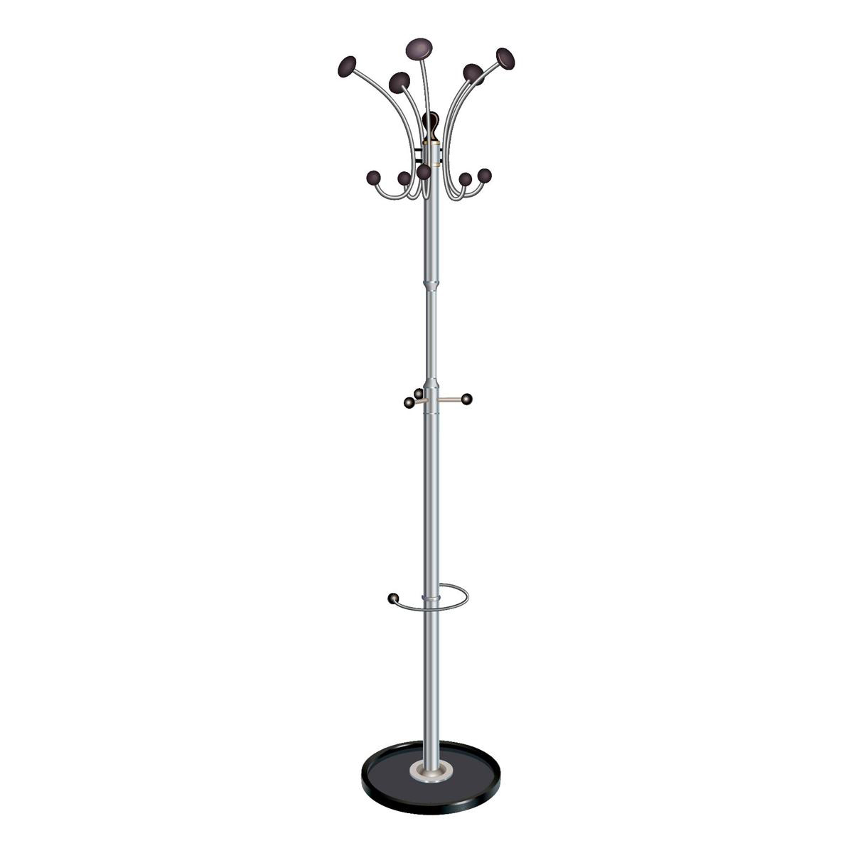Grid Coat Rack In Office Accessories: 5 Star Facilities Coat Stand With Revolving Head 5 Pegs 5