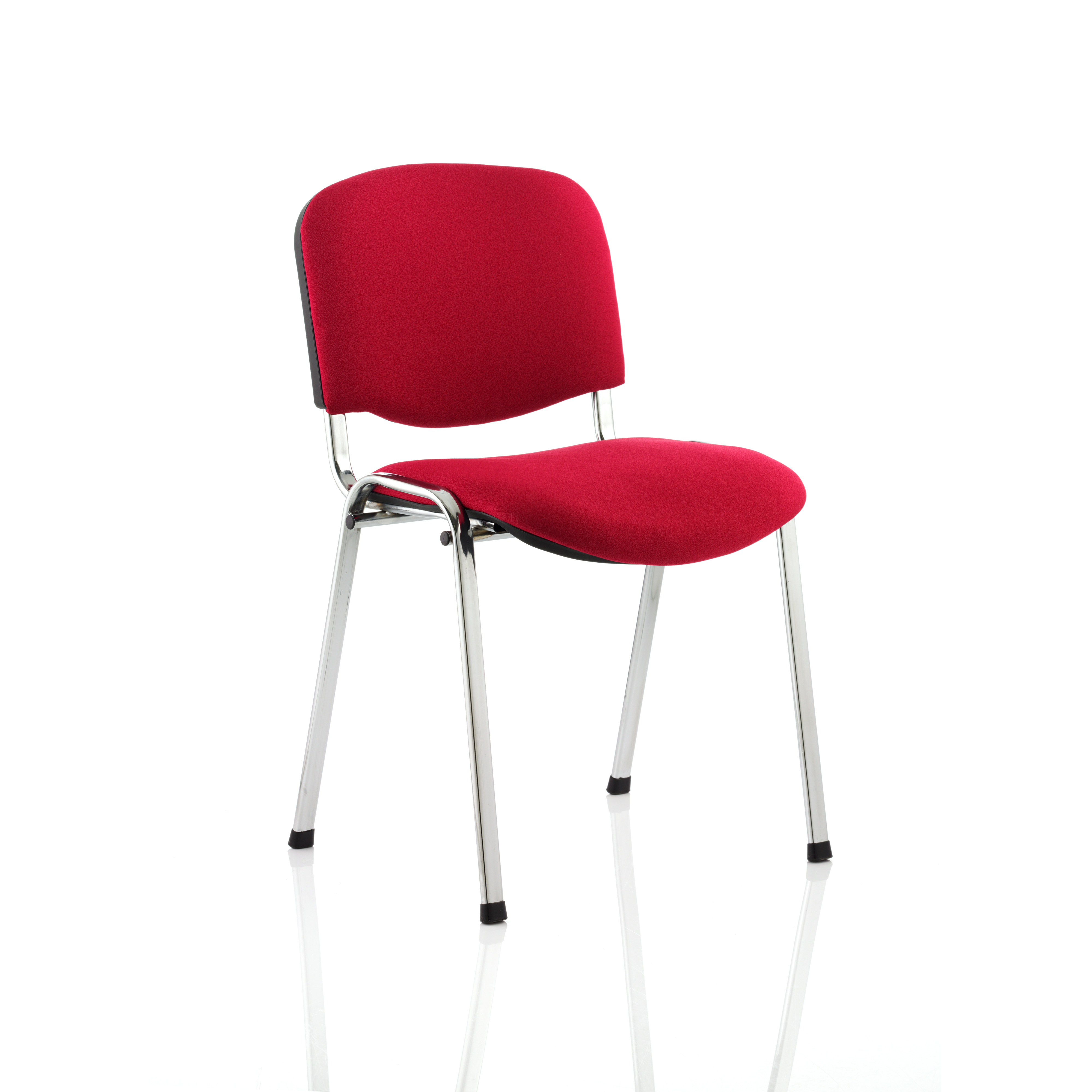 Tobago Stacking Chair Brown Chrome: Trexus Stacking Chair Chrome Frame Red 480x420x500mm Ref