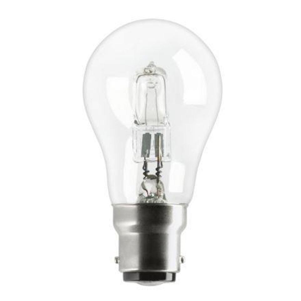 Ge Bulb Halogen 77w B22d Gls Bayonet Ing Energy Saving Dimmable Clear Ref 62576