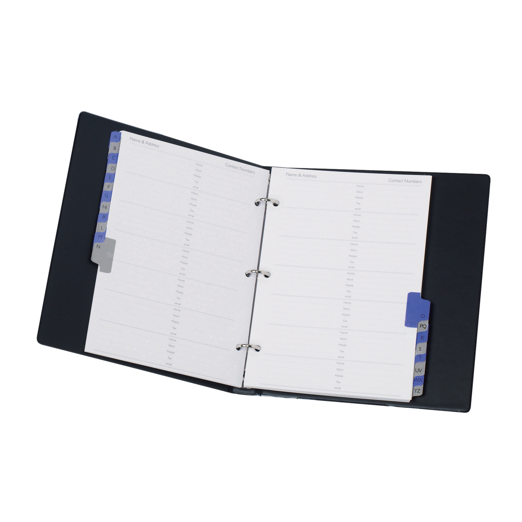 telephone and address book a z index ring binder a5 black get the