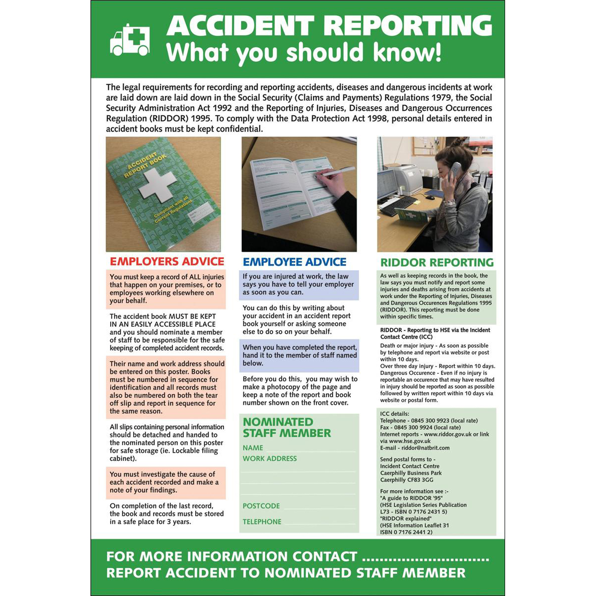Stewart Superior Accident Reporting Laminated Support Poster