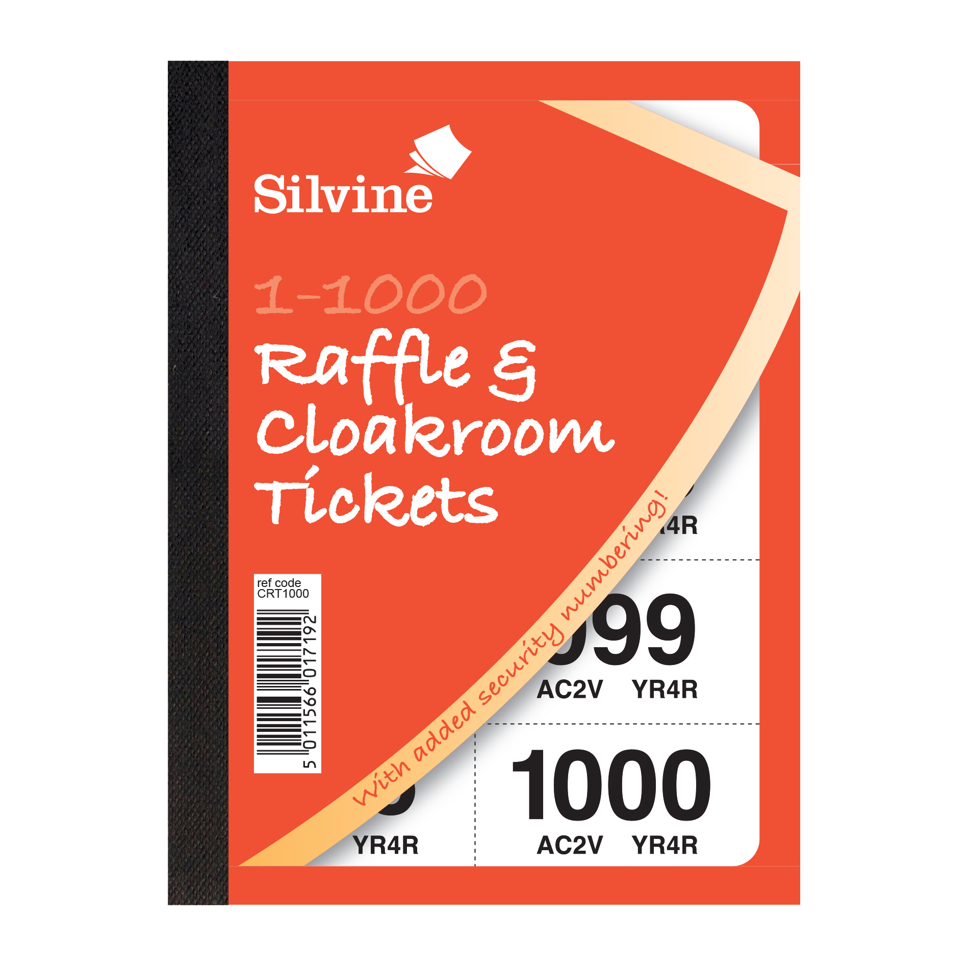 cloakroom or raffle tickets numbered 1 1000 assorted colours pack 6
