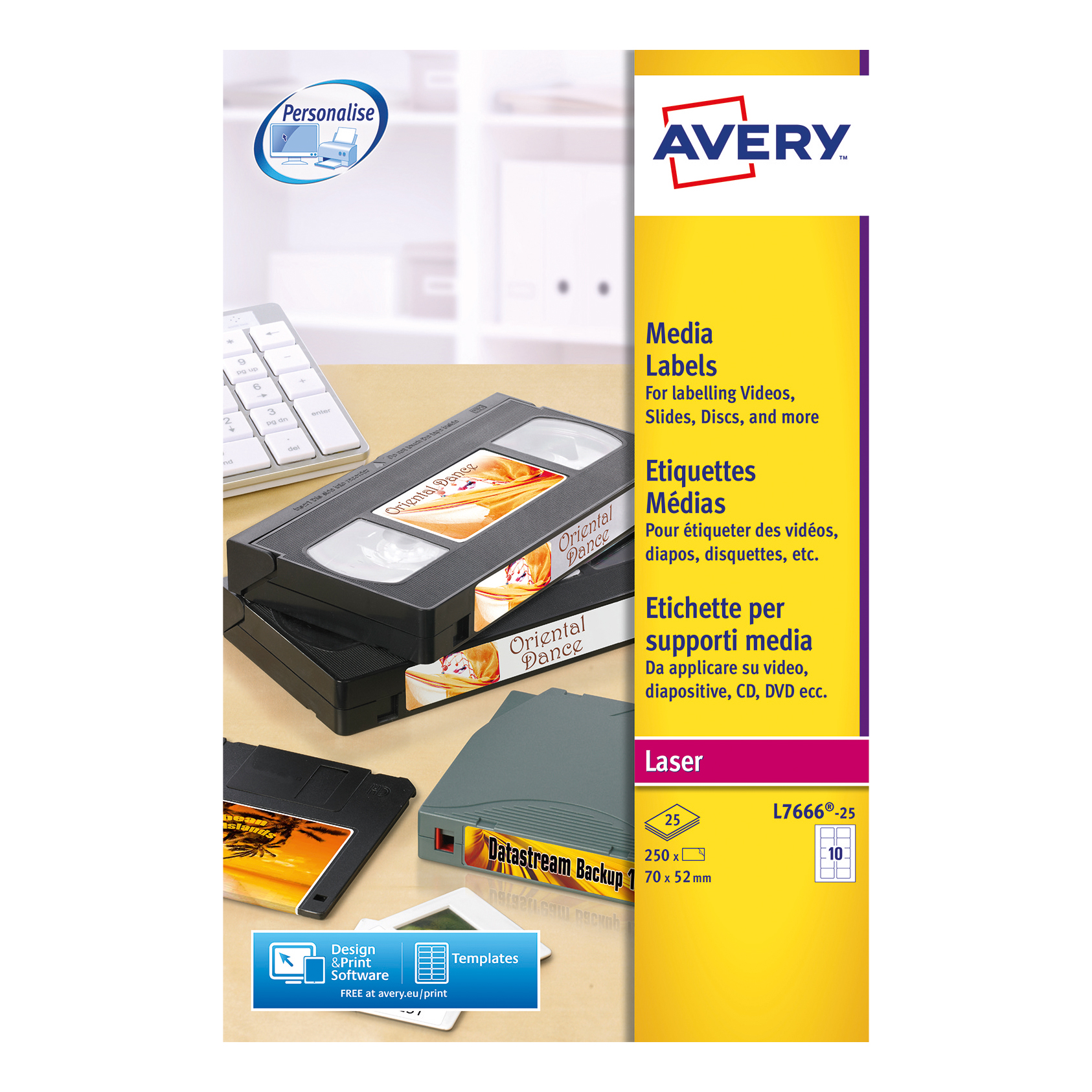 avery diskette labels laser 3 5 inch disk 10 per sheet 70x52mm white