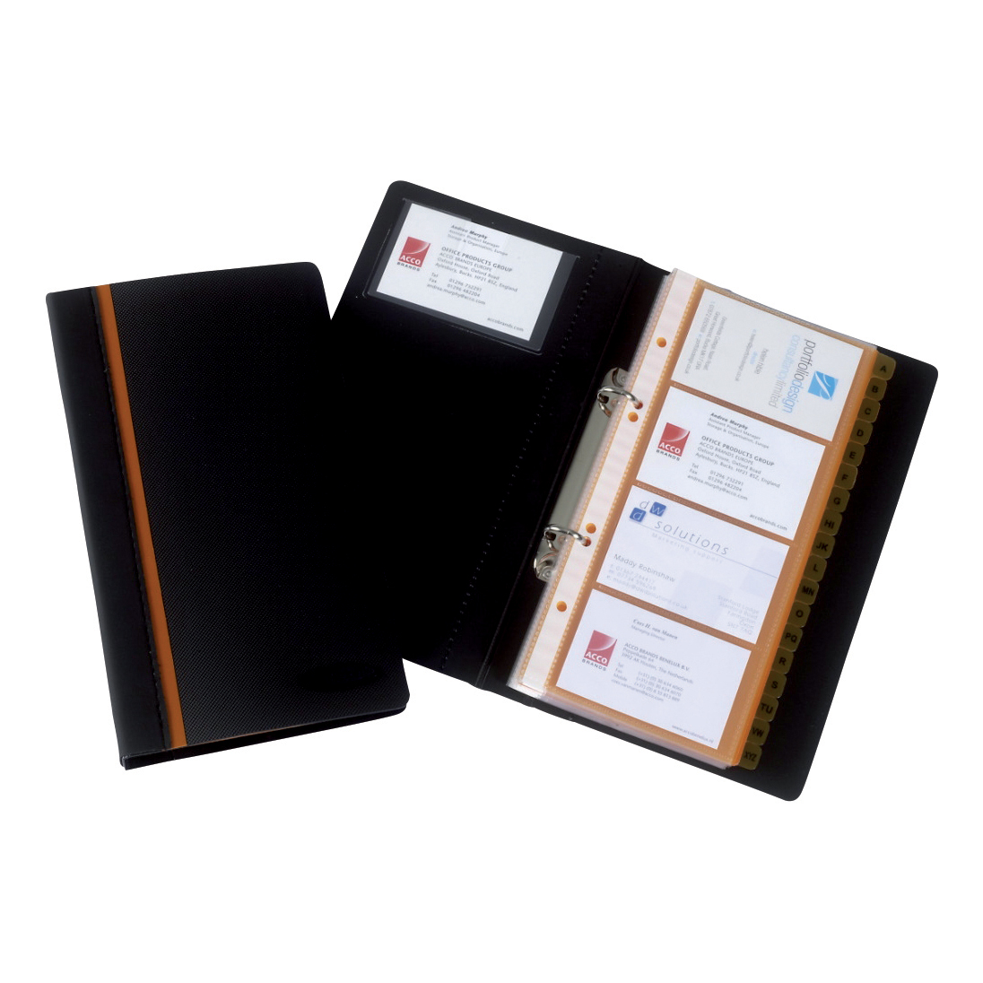 Rexel business card book professional ring binder with a z index rexel business card book professional ring binder with a z index capacity 128 cards ref 2101131 reheart Image collections