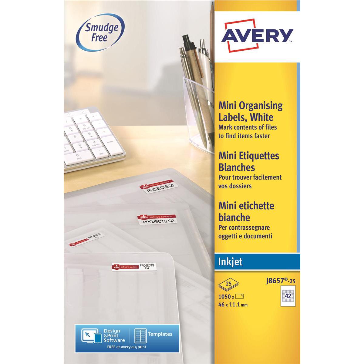 Avery Mini Multipurpose Labels Inkjet 42 Per Sheet 35mm Film Slides