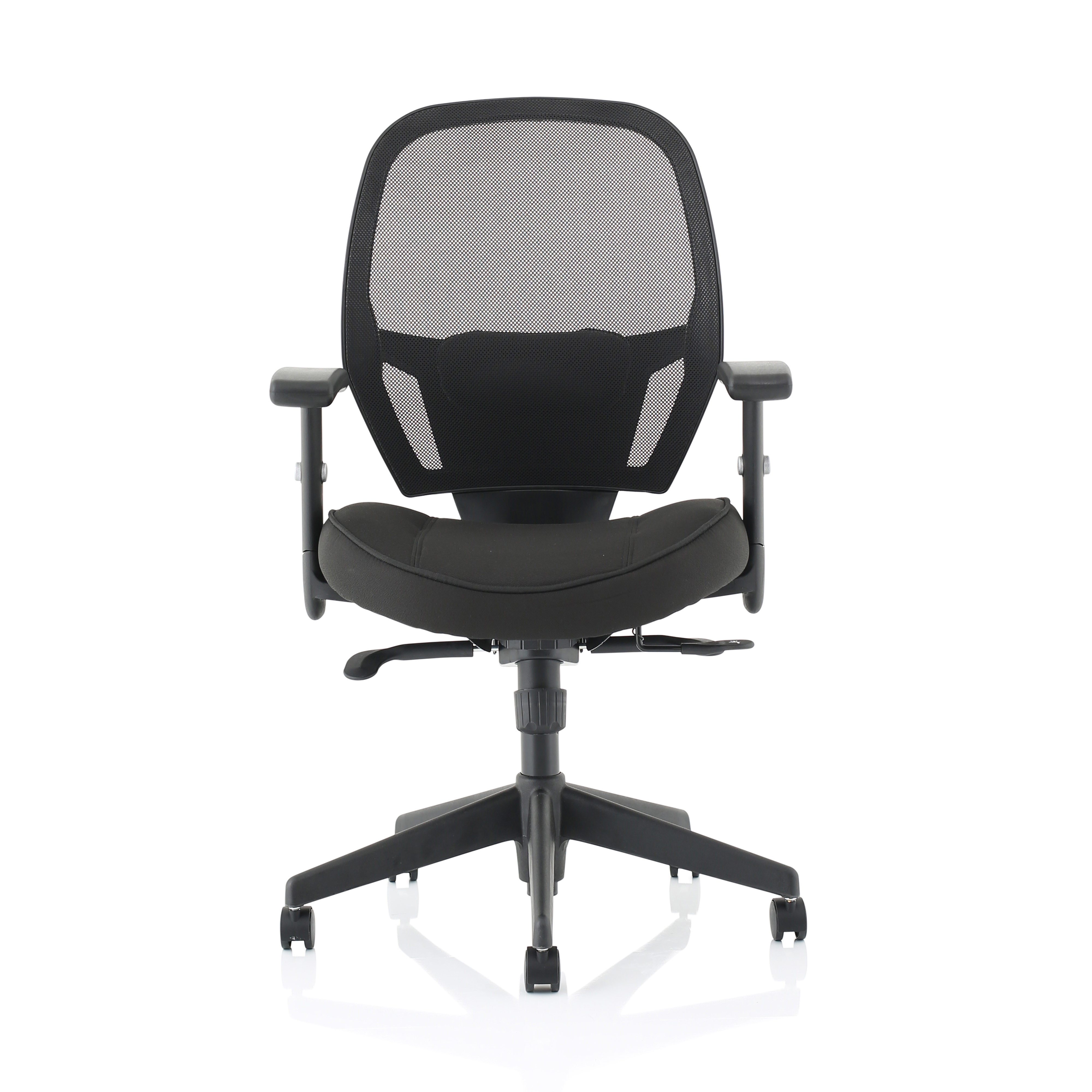 13c4a7b747a Trexus Amaze Synchronous Mesh Chair Black 520x520x470-600mm Ref  11186-02Black