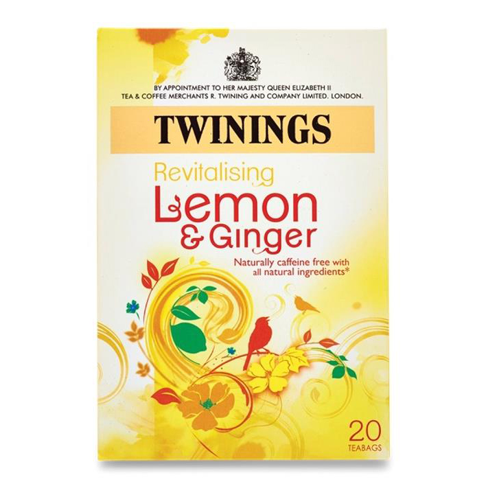 Twinings Infusion Tea Bags Individually-wrapped Lemon and
