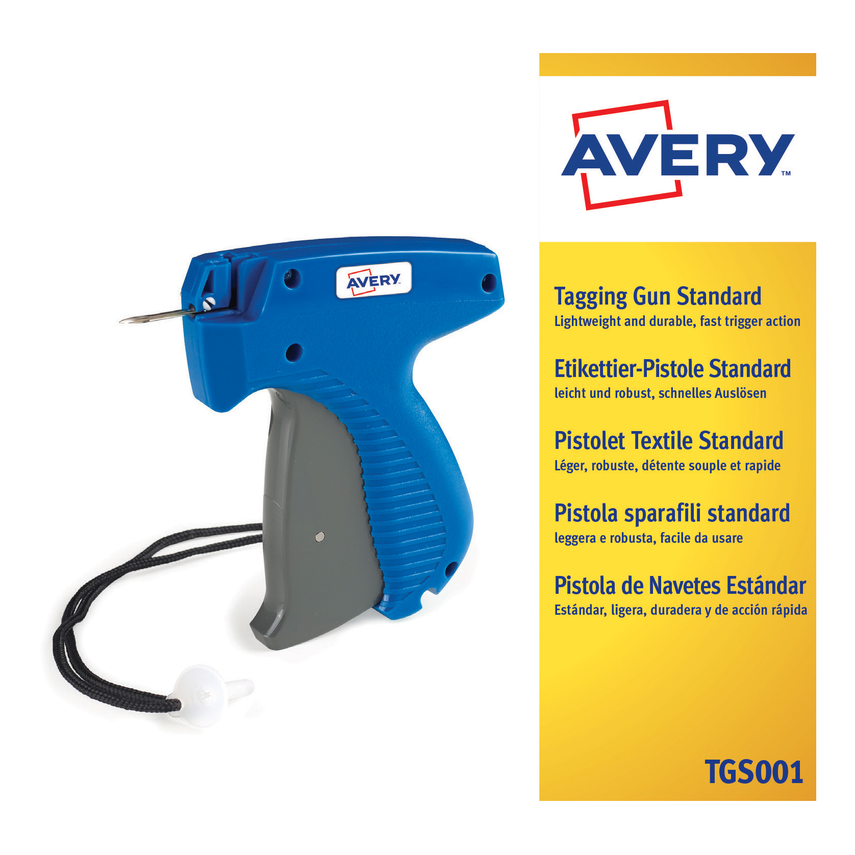 Avery Standard Tagging Gun For Plastic Fasteners To Products And Tickets Ref Tgs001