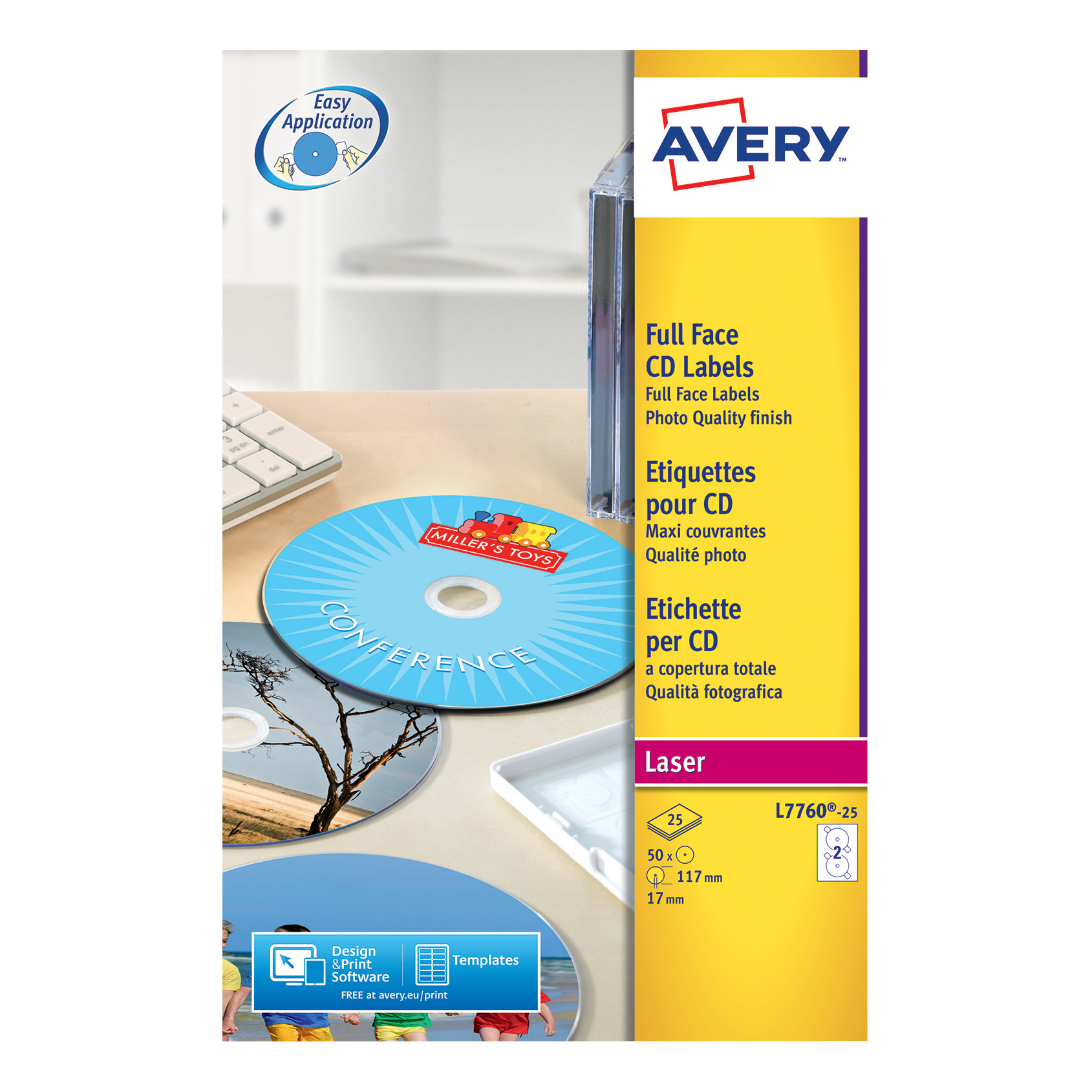 avery cd dvd labels laser 2 per sheet dia 117mm high glossy white
