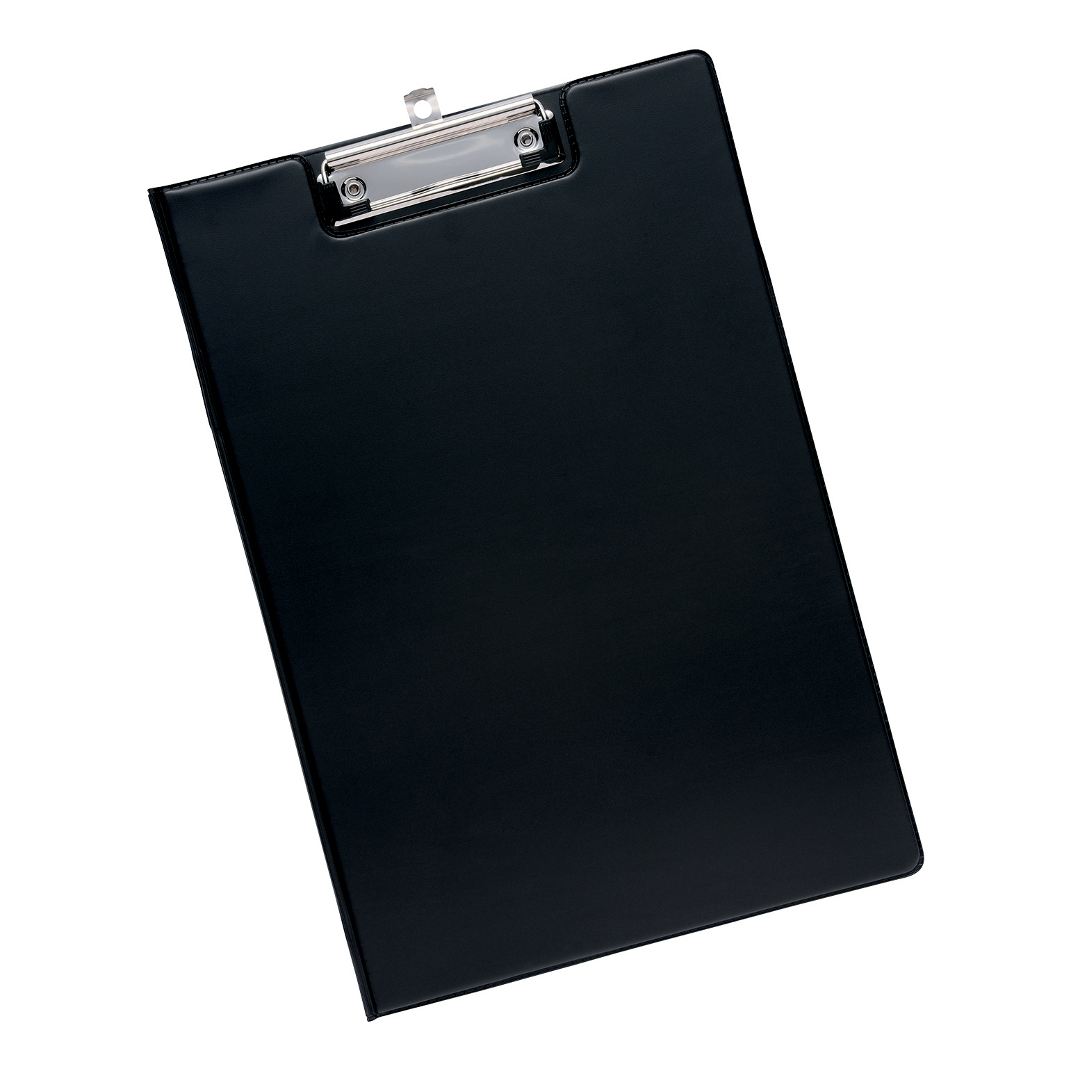 5 Star Office Fold Over Clipboard With Front Pocket Foolscap Black