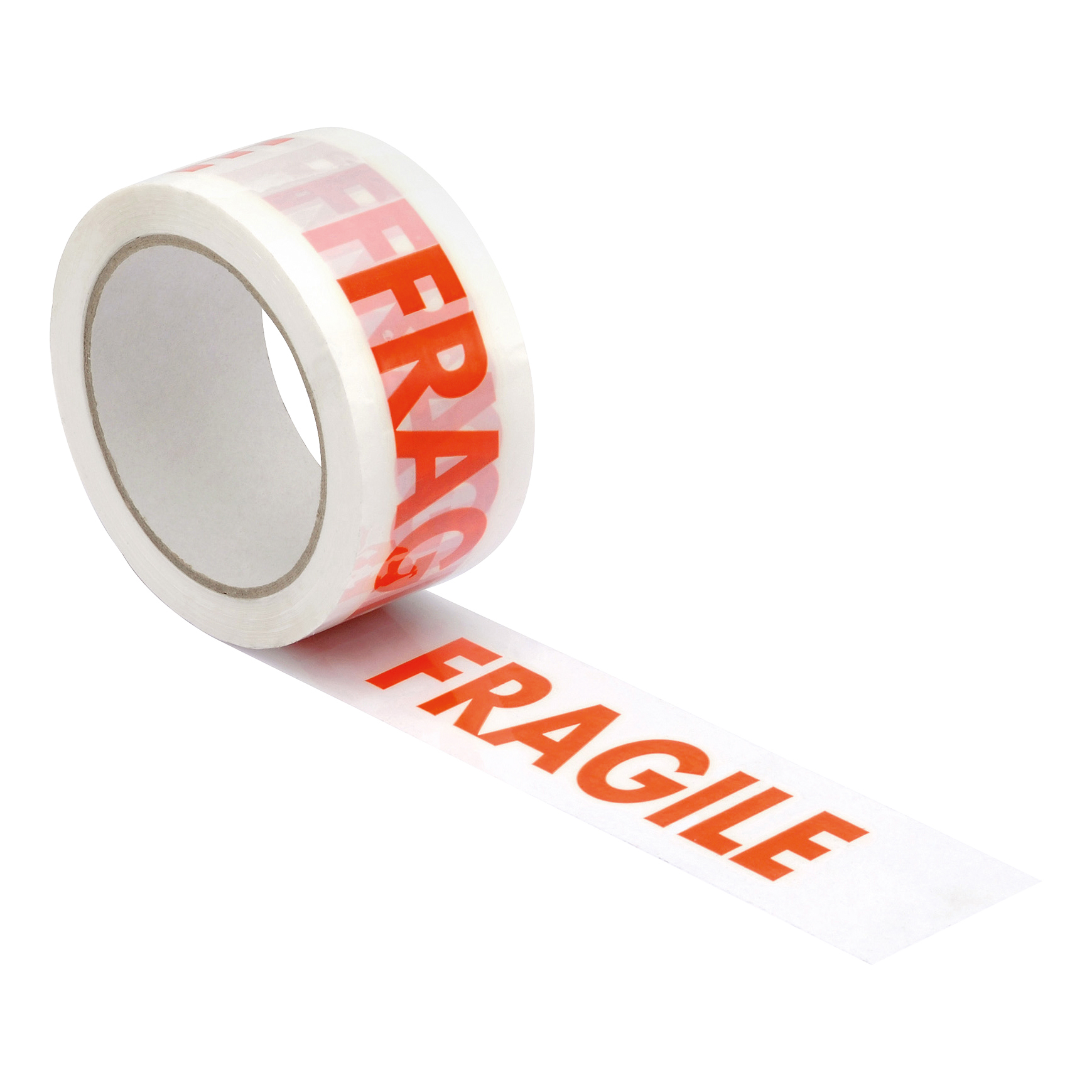 5 Star Office Printed Tape Fragile Polypropylene 48mmx66m Red On White Pack 6