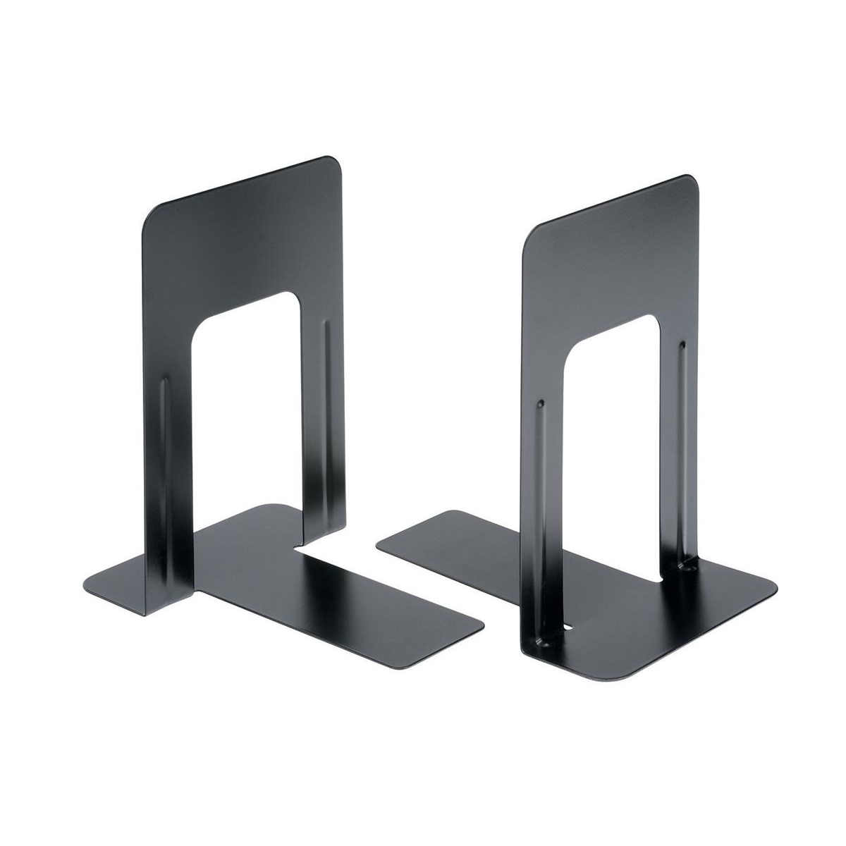Merveilleux 5 Star Office Bookends 180mm Metal Heavy Duty 7 Inch Black [Pack 2]