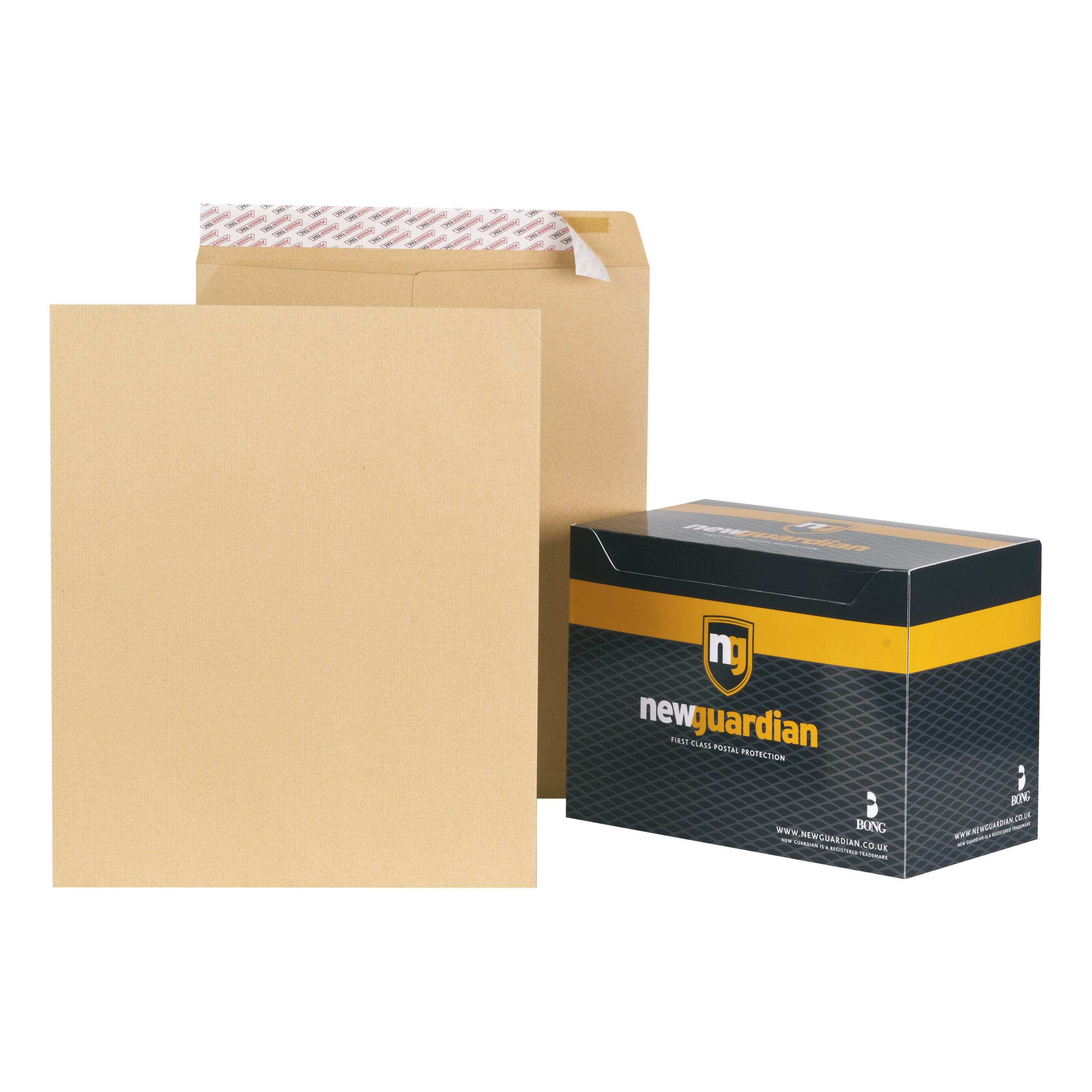 New Guardian Envelopes Heavyweight 444x368mm Pocket L And Seal 130gsm Manilla Ref B27713 Pack 125