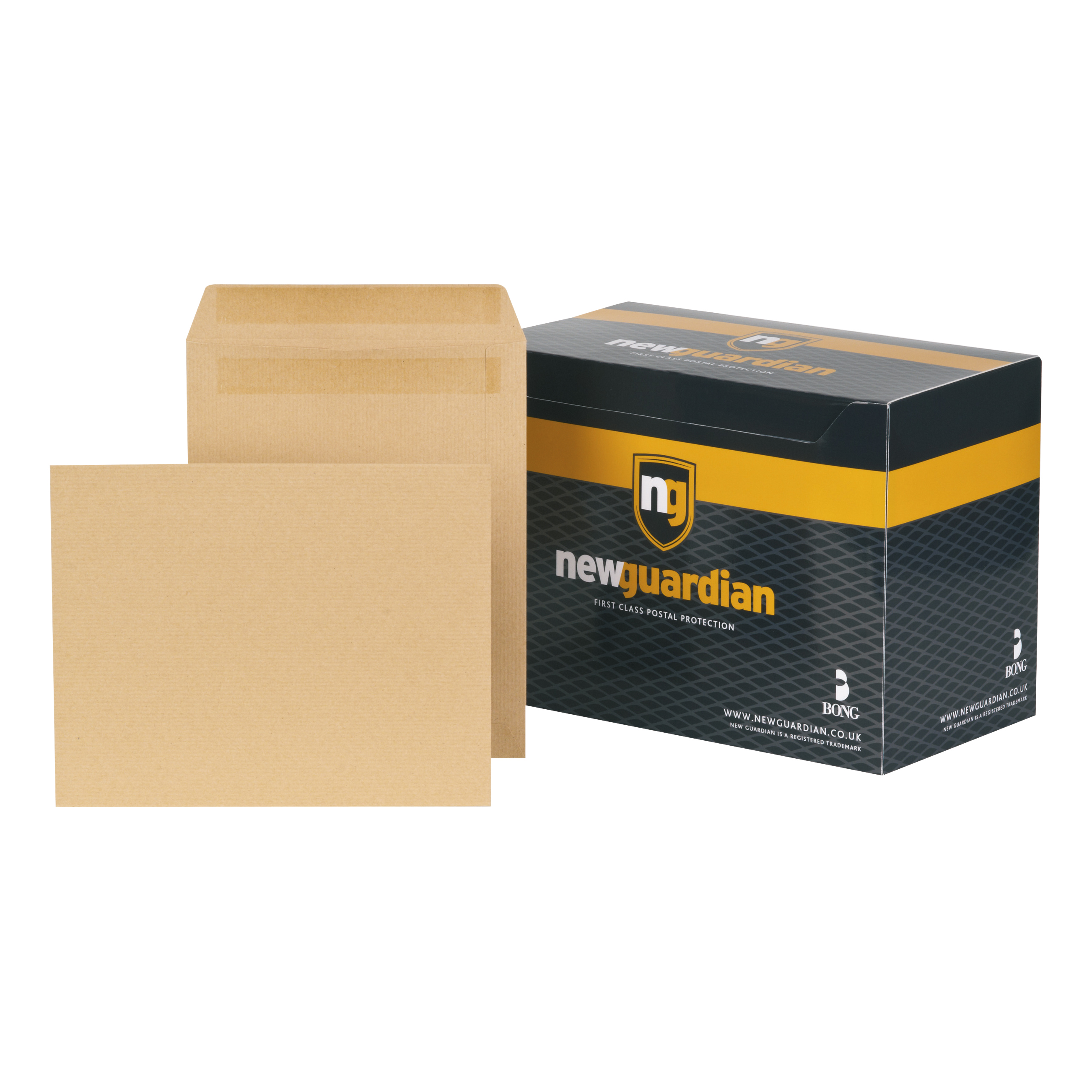 New Guardian Envelopes Heavyweight 270x216mm Pocket Self Seal 130gsm Manilla Ref F26903 Pack 250