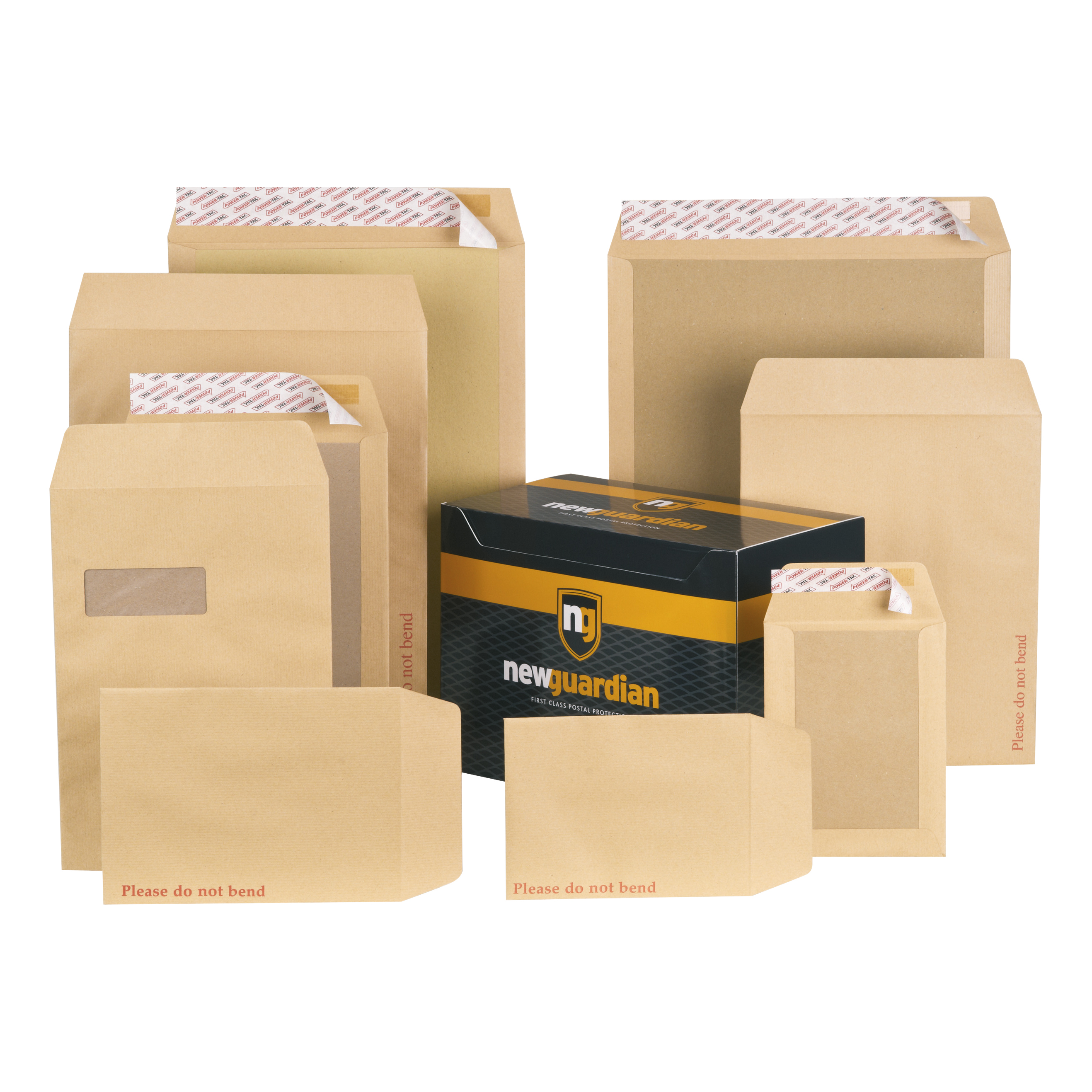New Guardian Envelopes Heavyweight Board Backed L And Seal C3 130gsm Manilla Pack 50