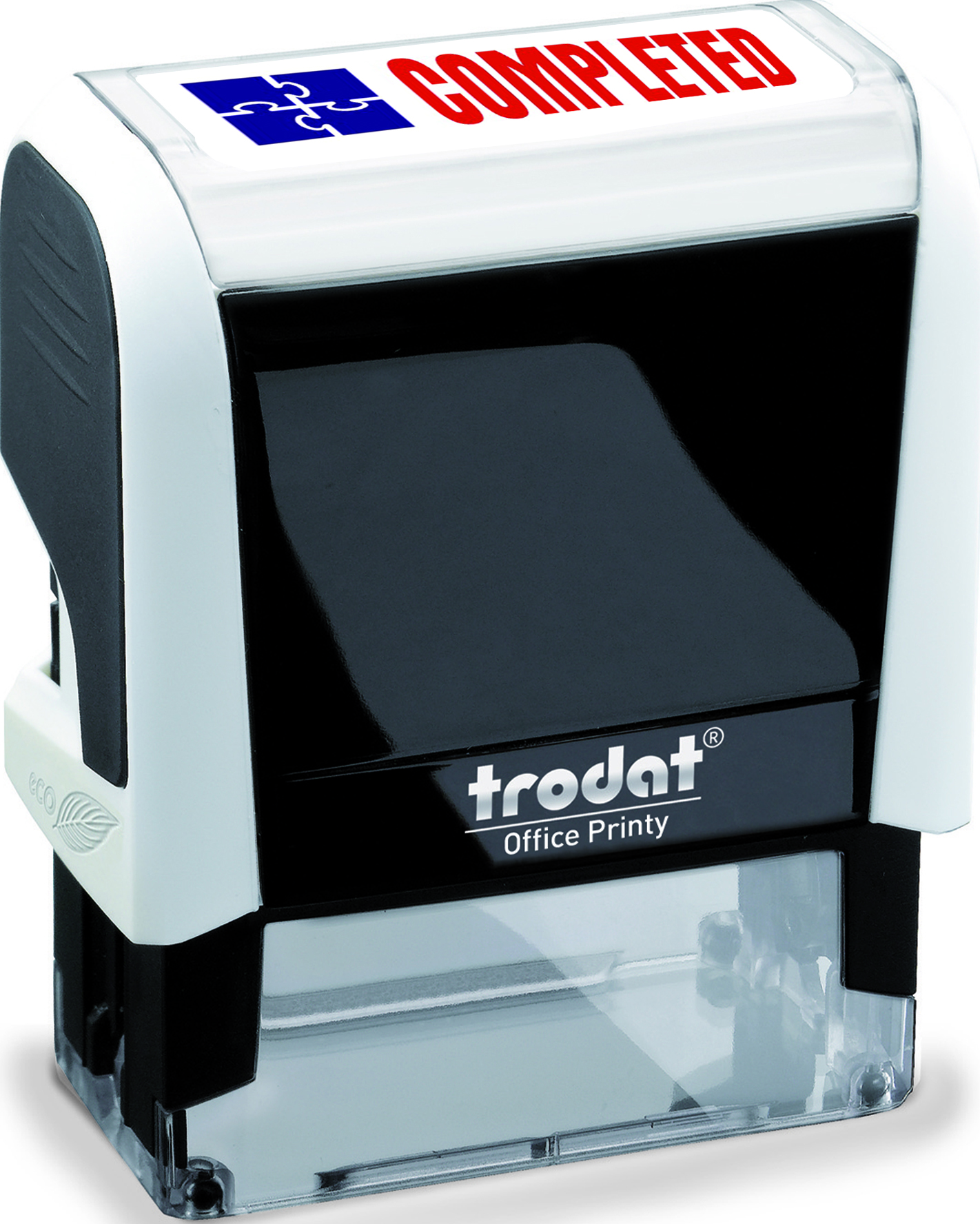Trodat Office Printy 4912 Self Inking Stamp Size 45 X 17mm This Prints The Word Completed In Red And Blue Ink On To Your Doents