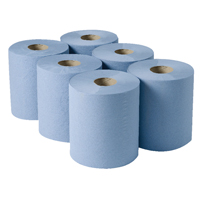 Compare retail prices of 2Work Centrefeed Roll 3-Ply Blue 135m Pack of 6 2W00083 to get the best deal online