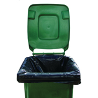 Compare retail prices of 2Work Black Wheelie Bin Liners Medium Duty Pack of 100 2W01167 to get the best deal online