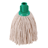 Compare retail prices of 2Work 12oz PY Smooth Socket Mop Green Pack of 10 PJYG1210I to get the best deal online