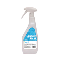 Compare retail prices of 2Work Anti-bacterial Sanitiser Spray 750ml Pack of 6 2W04586 to get the best deal online