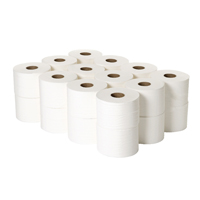 Compare prices for 2Work 2-Ply White Micro Twin Toilet Roll 125m Pack of 24 2W06439