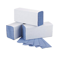 Cheapest price of 2Work Blue 1-Ply M-Fold Hand Towel 242x240mm Pack of 3000 2W71923 in new is £16.26