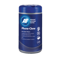 Compare prices for AF International Phone-Clene Telephone Wipes Tub Pack of 100 APHC100T