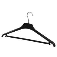 Compare retail prices of Alba Black Plastic Coat Hanger Pack of 20 PMBASICPL to get the best deal online