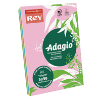 Compare prices for Adagio Pastel Assorted A4 Coloured Card 160gsm Pack of 250 AMP2116