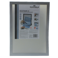 Compare prices for Durable A4 Silver Duraframe Pack of 2 487223