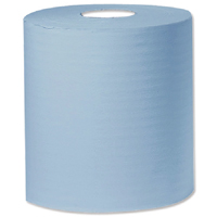 Compare retail prices of 2Work Blue 1 PlyCentrefeed 300 Metre Roll Pack of 6 KF03803 to get the best deal online